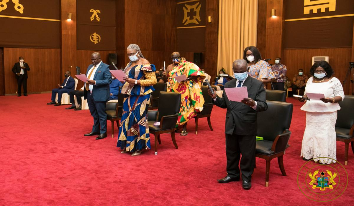 President Akufo-Addo Inagurates Governing Board Of RTI Commission