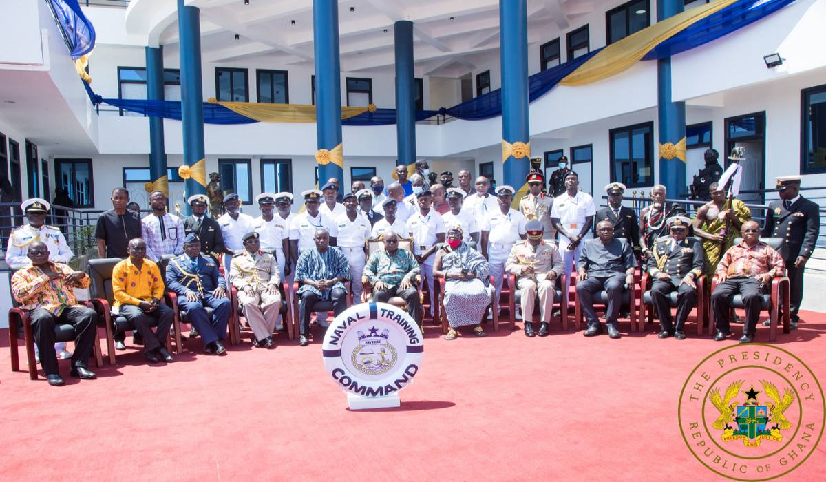 President Akufo-Addo Commissions Naval Training Command In Volta Region